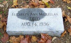 Elizabeth Ann Lizzie McClellan
