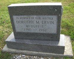 Dorothy Mary <i>McDuffie</i> Ervin