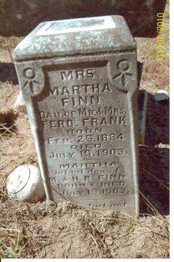 Martha <i>Frank</i> Finn