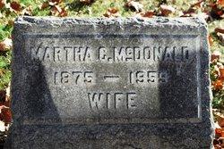 Martha A. <i>Cooke</i> McDonald