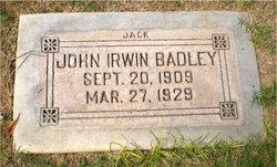 John Irwin Jack Badley