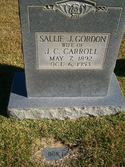 Sallie Jane <i>Gordon</i> Carroll