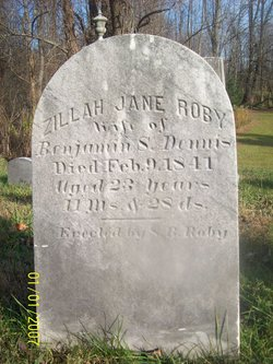 Zillah Jane <i>Roby</i> Dennis