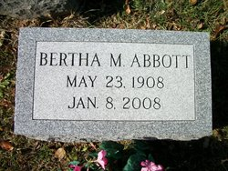 Bertha M Abbott