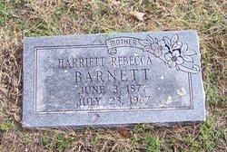 Harriett Rebecca Hattie <i>Hancock</i> Barnett