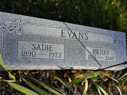 Sarah Elizabeth Sadie <i>Fenton</i> Evans