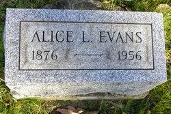Alice L <i>Walker</i> Evans