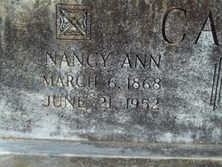 Nancy Ann Nannie <i>Ash</i> Cato