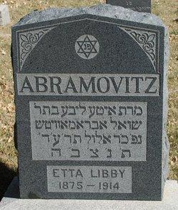 Etta Libby <i>Axler</i> Abramovitz