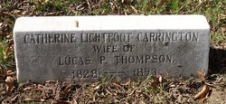 Catherine Lightfoot <i>Carrington</i> Thompson