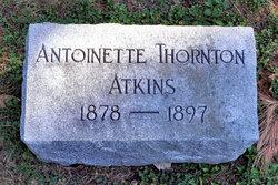 Antoinette <i>Thornton</i> Atkins