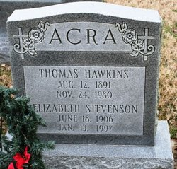 Elizabeth <i>Stevenson</i> Acra