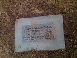 Rebecca <i>Adams</i> Rogers