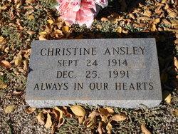 Christine <i>Harlan</i> Ansley