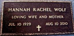 Hannah Rachel <i>Morris</i> Wolf