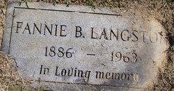 Fannie B. Langston