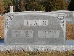 Elizabeth <i>Westbrook</i> Blain