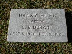 Nanny <i>Miles</i> Durant