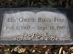 Ida Gwen <i>Ross</i> Ivie