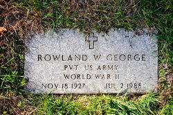 Rowland W George