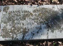 Martha <i>Simpkins</i> Buckingham
