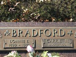Carrie Mary Anna <i>Nesbitt</i> Bradford