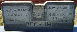 Mary M. <i>Garrett</i> Beckum