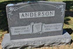 Bertha <i>Mastin</i> Anderson