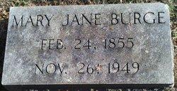 Mary Jane Mae <i>Hundley</i> Burge