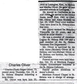 Charles Edgar Tuck Oliver