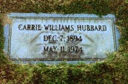 Carrie <i>Williams</i> Hubbard