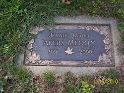 Jennie A <i>Bardo</i> Meckly