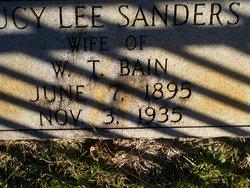 Lucy Lee <i>Sanders</i> Bain