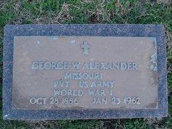 Pvt George W. Alexander