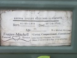 Brenda Louise <i>Williams</i> Alexander