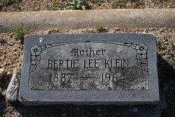 Bertie <i>Lee</i> Klein