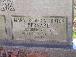 Mary <i>Hinton</i> Bernard