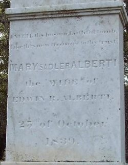 Mary <i>Sadler</i> Alberti