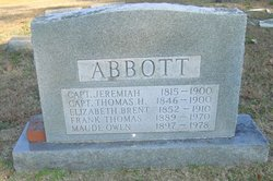 Elizabeth Chappell <i>Brent</i> Abbott