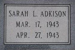 Sarah Lavada Adkison