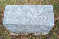 Alice M Cowdery