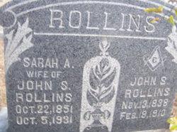 Sarah Ann <i>Thomas</i> Rollins