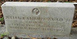 Pvt Julian Kanaina Akao, Jr