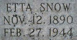 Etta <i>Snow</i> Allred