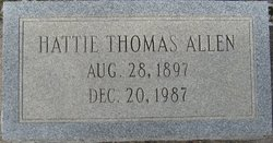Hattie <i>Thomas</i> Allen