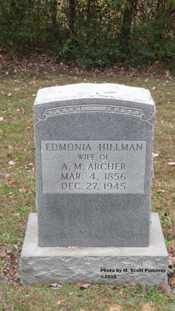 Edmonia <i>Hillman</i> Archer