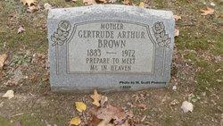 Gertrude <i>Arthur</i> Brown