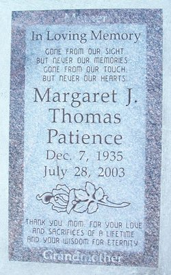 Margaret <i>Thomas</i> Patience