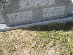 Effie <i>Pullin</i> Ables