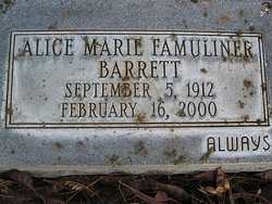Alice Marie <i>Famuliner</i> Barrett